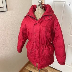 Gap Red Down Feather Winter Coat